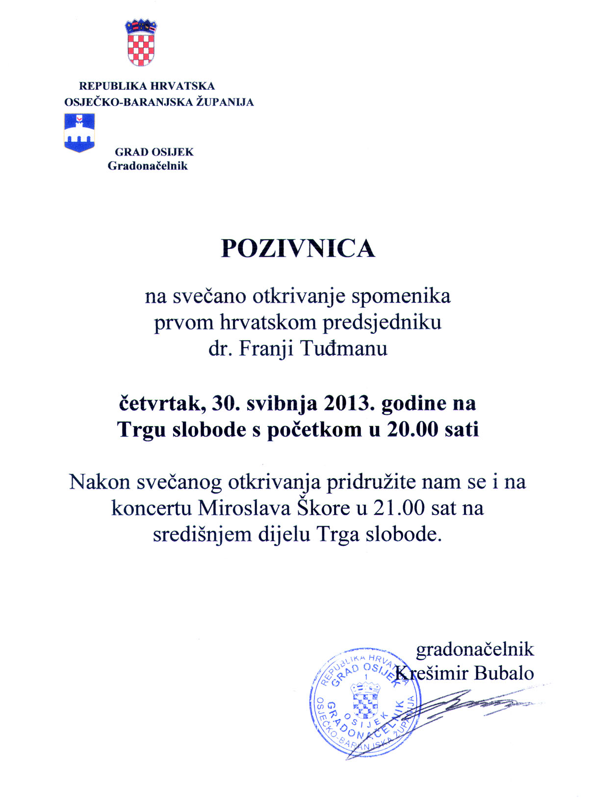 poziv Tuđman